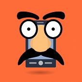 picture of prank  - Flat style vector illustration of the concept of phone prank or prank call - JPG