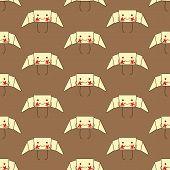Постер, плакат: Pattern With Funny Croissant