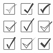 foto of confirmation  - Vector confirm icons set - JPG