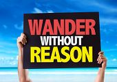 pic of wander  - Wander Without Reason card with beach background - JPG
