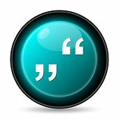 pic of quotation mark  - Quotation marks icon - JPG