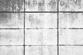 image of cinder block  - White concrete block wall seamless background and texture - JPG