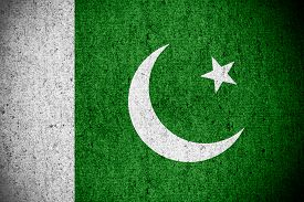 pic of pakistani flag  - flag of Pakistan or Pakistani banner on rough pattern texture - JPG