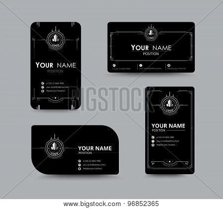 White Business Name Card. Design With Simple Concept. Vector ...