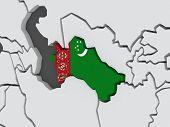 foto of turkmenistan  - Map of worlds - JPG