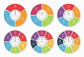 Set of vector infographic circle templates poster