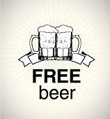 foto of beer mug  - free beer sign - JPG