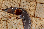 Постер, плакат: Jewish Holiday Symbol Matzot With Silver