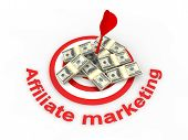 picture of marketing strategy  - Image of  Affiliate marketing concept in 3d - JPG