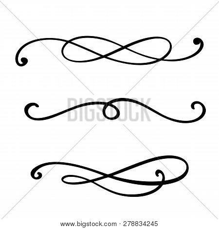 Vector Vintage Line Elegant Dividers