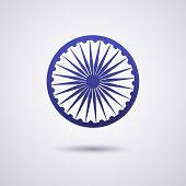 The Wheel Symbol On The India Flag Is Dharmachakra Ashoka Chakra Wheel Of Law Ancient Indian Solar S poster