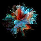 Advance Of Colorful Paint Splash Explosion poster