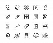 Medical Care Line Icons. Family Healthcare, Patient Treatment, Medical Insurance, Cardiology Surgery poster