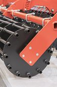 Agricultural Machinery For Soil Cultivation. New Modern Models Of Agricultural Machinery. Vertical P poster