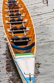 Close-up Of An Eight That Is A Rowing Boat Used In The Sport Of Competitive Rowing. It Is Designed F poster