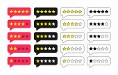 Rating Stars Badges. Feedback Or Rating. Rank, Level Of Satisfaction Rating. Five Stars Customer Pro poster