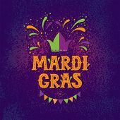 Mardi Gras Carnival Party Design. Fat Tuesday, Carnival, Festival. Vector Illustration. For Greeting poster
