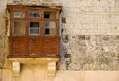 Medieval And Derelict Balcony poster