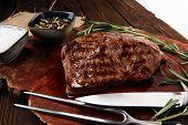 Barbecue Rib Eye Steak - Dry Aged Wagyu Entrecote Steak poster