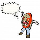 foto of cannibal  - cartoon cannibal mask man - JPG