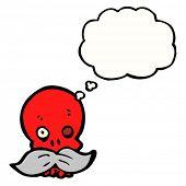 Постер, плакат: мультфильм череп с усами