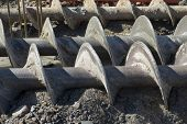 image of auger  - augers used to dig deep foundations for a building - JPG