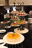 foto of banquette  - the Different kinds of cakes buffet banquette - JPG