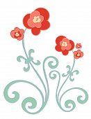 Постер, плакат: Золото и красные цветы