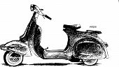 picture of vespa  - The vespa hand drawing illustrated into vector works - JPG