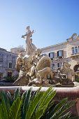 pic of artemis  - View of Artemis Fountain in Syracuse - JPG