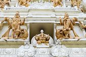 picture of vinayagar  - Ornate Hindu Ganesha God and Goddesses Temple Gopuram Tower Stone Statue Carvings Gorup - JPG