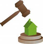 picture of lien  - gavel smashing house  - JPG