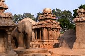 picture of arjuna  - Pancha ratha temples in Mammallapuram - JPG