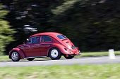 Rushing Volkswagen Beetle
