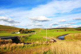 stock photo of carron  - Carron Valley Campsie Hills, Scotland United Kingdom ** Note: Slight graininess, best at smaller sizes - JPG