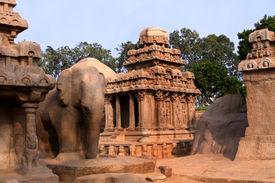 foto of mahabharata  - Pancha ratha temples in Mammallapuram - JPG