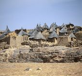 stock photo of dogon  - Traditional Graineries in Dogon village Doutu Mali - JPG