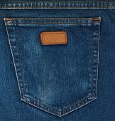 Blue Jeans bolso Closeup