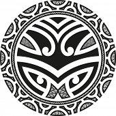 picture of maori  - Traditional Maori Taniwha tattoo design - JPG
