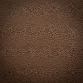 stock photo of unnatural  - Brown leather macro shot texture for background - JPG