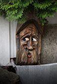 pic of hobgoblin  - hobgoblin out of wood guards the entrance  - JPG