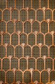 Copper Art Deco Background