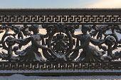 foto of sankt-peterburg  - Decorative fence of the bridge in Sankt - JPG