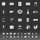 Journey Icons On Gray Background
