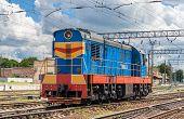 image of railcar  - Shunter in Konotop station  - JPG