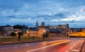 stock photo of avignon  - View of medieval town Avignon at morning UNESCO world heritage - JPG