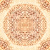 foto of mehndi  - Ornate vintage vector seamless pattern tile in mehndi style - JPG