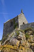 stock photo of mont saint michel  - Saint Aubert Chapel - JPG