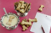 pic of condensation  - Bone sugar cookies and condensed milk for children - JPG