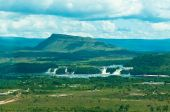 stock photo of canaima  - Canaima lagoon with waterfalls and jungles Venezuela - JPG